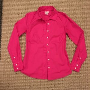 J. Crew Haberdashery Hot Pink Button Down Shirt